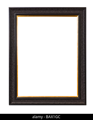 Ornate wooden picture frame - Stock Photo