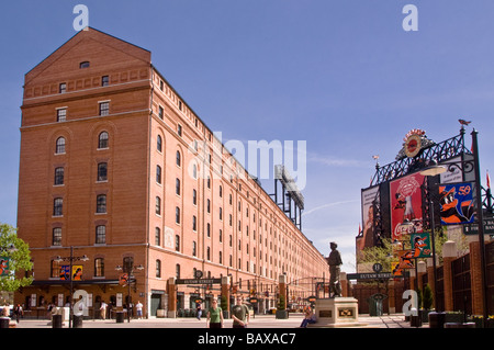 Oriole Park at Camden Yards Baltimore Maryland where Babe Ruth played as a child - Stock Photo