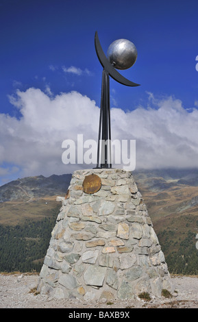 Neptune on the Planets Footpath (Sentier des Planetes) in the Val d Anniviers, Valais Switzerland. - Stock Photo