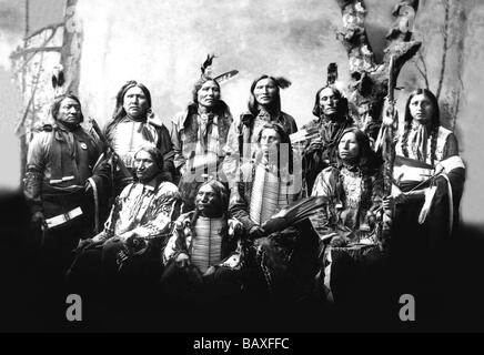 Chief Jack Red Cloud and Chiefs - Stock Photo