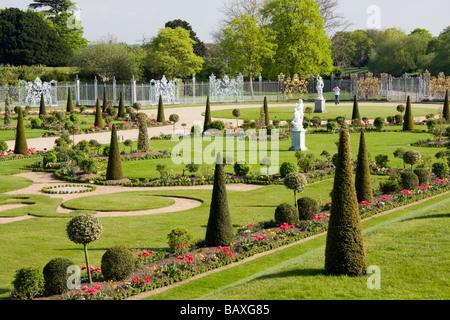 The Privy Garden Hampton Court Palace Hampton Court London England - Stock Photo