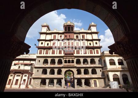 Raj Wada Mansion in Indore Madhya Pradesh India - Stock Photo