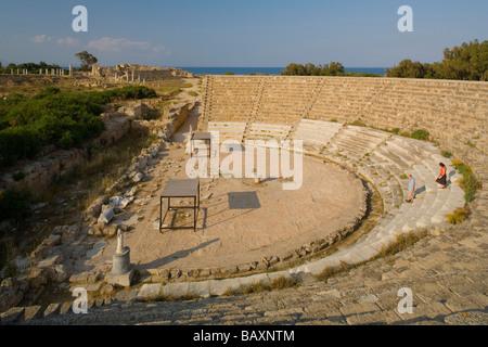 Salamis Antique Theatre, Ruins, Archaeology, Salamis, North Cyprus, Cyprus - Stock Photo