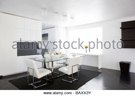Dining Room Table Set For Dinner dining room table set up for meal stock photo, royalty free image