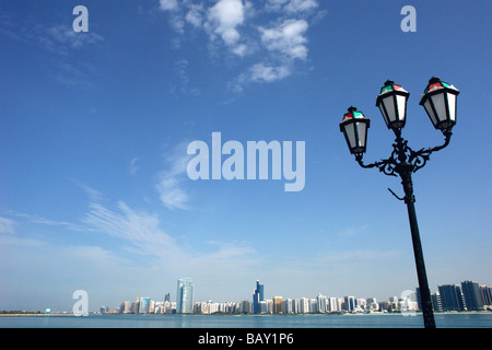 Skyline of Abu Dhabi, United Arab Emirates, UAE - Stock Photo