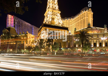 Paris Hotel and Casino in Las Vegas, Nevada, USA - Stock Photo