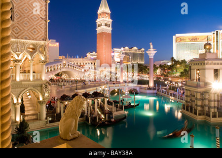 Venetian Resort Hotel and Casino in Las Vegas, Nevada, USA - Stock Photo