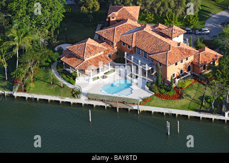 Luxurious homes in Coral Gables, Miami, Florida, United States of America, USA - Stock Photo
