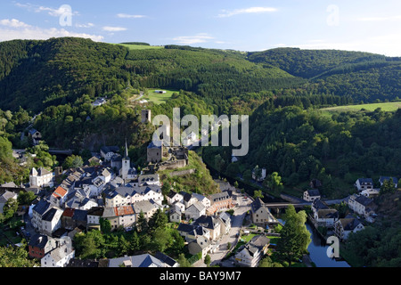 The village of Esch-sur-Sure, Wiltz, Luxembourg - Stock Photo