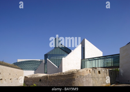Modern Art Museum, Musee d'Art Moderne Grand-Duc Jean in the district of Kirchberg, Luxembourg - Stock Photo