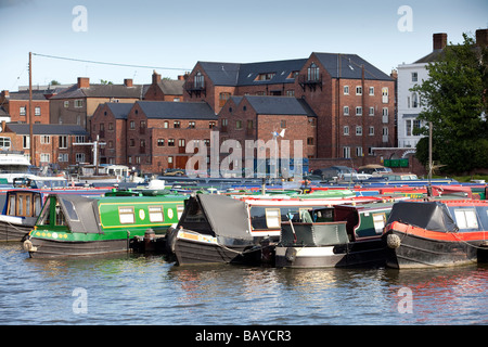 Boats in the marina at Stourport on Severn Worcestershire England UK - Stock Photo