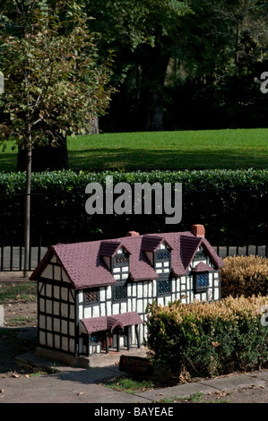 Model Tudor Village in Fitzroy Gardens Melbourne Victoria Australia - Stock Photo