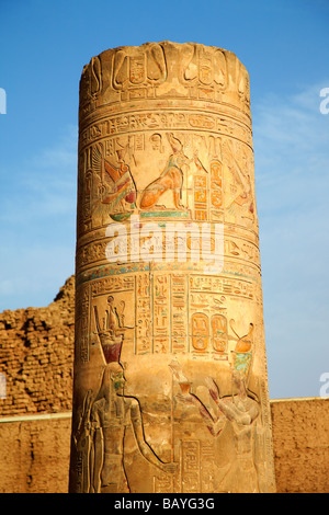 Kom Ombo Temple on the bank of the River Nile, Egypt - Stock Photo
