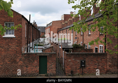 Rows of old houses in Chester, Cheshire - Stock Photo