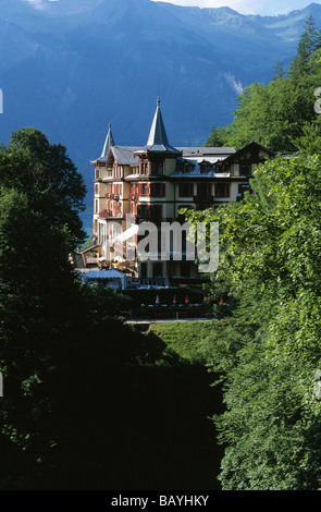 Grand Hotel Giessbach near Brienz Switzerland - Stock Photo
