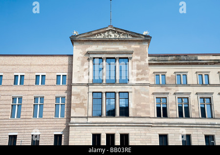 Facade of reconstructed Neues Museum on Museuminsel in central Berlin - Stock Photo
