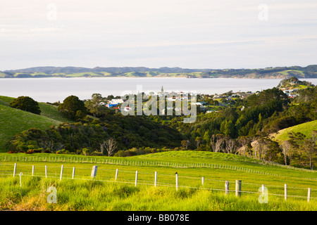 The town of Leigh from a lookout North Island New Zealand - Stock Photo