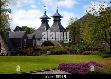 Modern distillery architecture with Doig, Cupola or Pagoda. The Seagram Co Ltd. Scottish Whisky Distillery at Strathisla, - Stock Photo