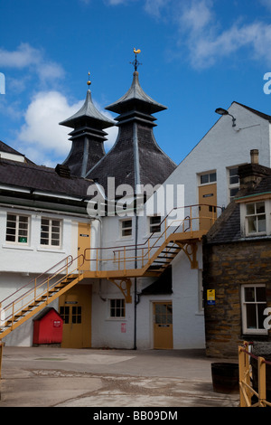 Modern distillery architecture with Doig, Cupola, or Pagoda.The Seagram Co Ltd.  Scottish Whisky Distillery at Strathisla, - Stock Photo