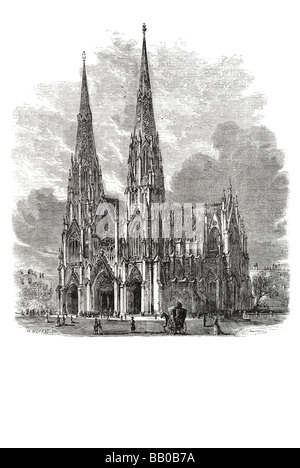 St Patricks Cathedral New York Neo Gothic Style Catholic Roman Archdiocese Parish Church Fifth Avenue