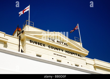 Royal Sussex County hospital building - Stock Photo