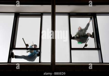 Window cleaner Hamburg - Stock Photo