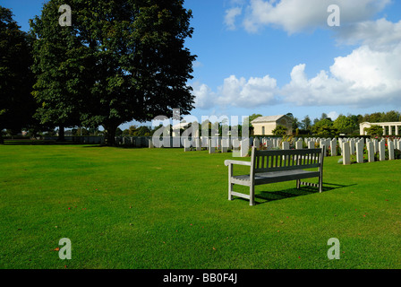 British cemetery of second world war in Bayeux, Normandy - Stock Photo