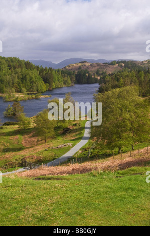 Tarn Hows, a lake in the Lake District National Park, taken in May - Stock Photo