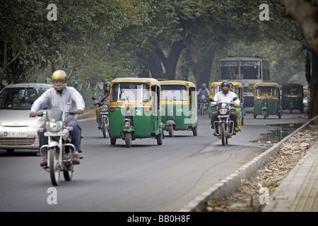 Street scenery New Delhi India - Stock Photo