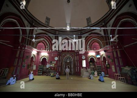 Inside the Mosque at Nizamuddin Shrine in Delhi India - Stock Photo