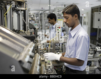Indien Employees at Bosch Ltd Bangalore India - Stock Photo