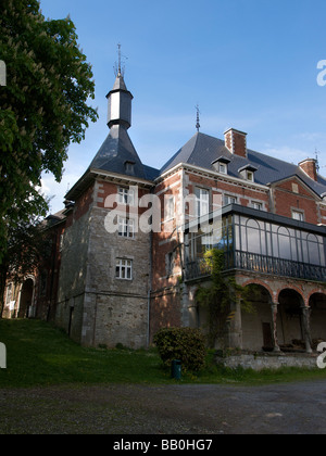 the 16th century Chateau in Oteppe Belgium - Stock Photo