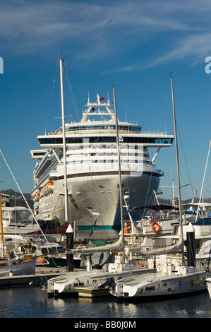 View Of The Diamond Princess Cruise Ship Docked In The