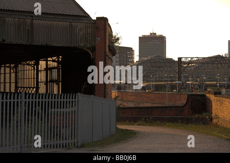 Derelict station, Mayfield Station next to Piccadilly Station, Mayfield Street, Manchester, UK - Stock Photo