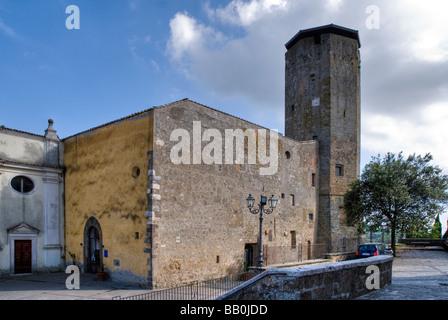 Rocca Farnese at Valentano in Lazio - Stock Photo