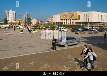 Sheski Skenderbej square in Tirana Albania Europe - Stock Photo