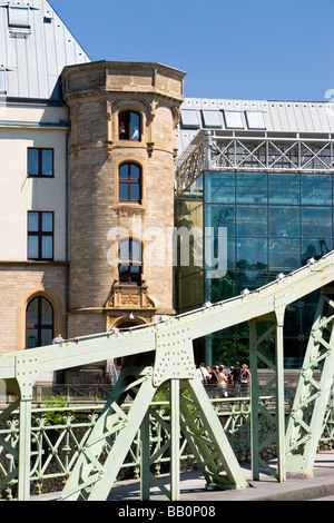 Imhoff-Schokoladenmuseum (Imhoff Chocolate Museum) with Entrance bridge, Cologne, Germany - Stock Photo