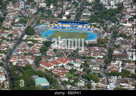 aerial view above El Salvador stadium San Salvador - Stock Photo