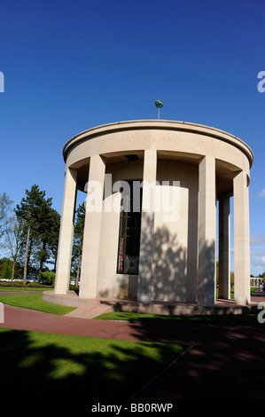 The Chapel in the Normandy American Cemetery and Memorial Omaha Beach Colleville sur Mer France WWII - Stock Photo
