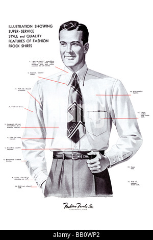 Super Service Style and Quality Features of Fashion Frock Shirts - Stock Photo