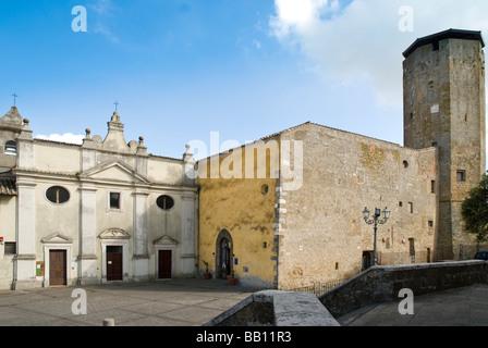 Museum of the Prehistory of Tuscia and of the Rocca Farnese at Valentano in Lazio - Stock Photo