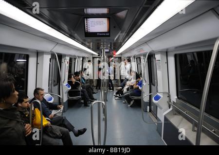 In the Metro of Barcelona, Spain - Stock Photo