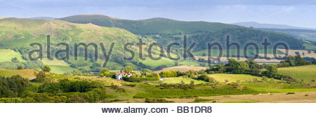 View towards Caer Caradoc from Long Mynd, Shropshire, England, UK. - Stock Photo