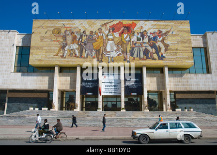 National Museum of history in central Tirana Albania Europe - Stock Photo