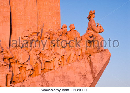 Monument to the Discoveries, Belém, Lisbon, Portugal. - Stock Photo
