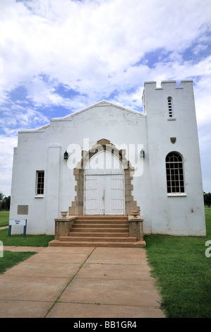 The Fort Reno chapel built in 1944 by German prisoners of war - Stock Photo