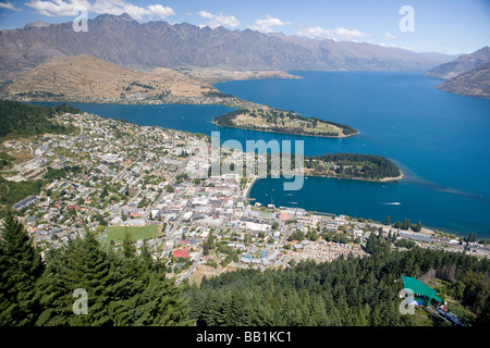 Queenstown South Island New Zealand - Stock Photo