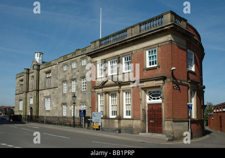 The Dixie Grammar School and the Bank Building, Market Place, Market Bosworth, Leicestershire, England, UK - Stock Photo