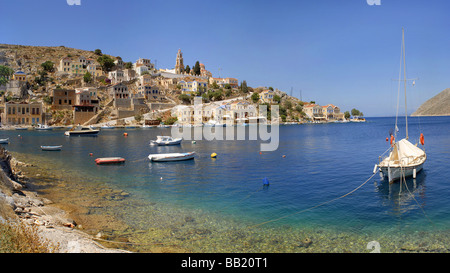The island town of Symi Greece - Stock Photo