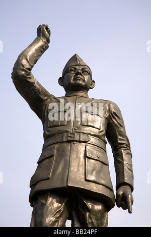 A statue of the Indian leader Subhas Chandra Bose, the Indian nationalist leader. - Stock Photo